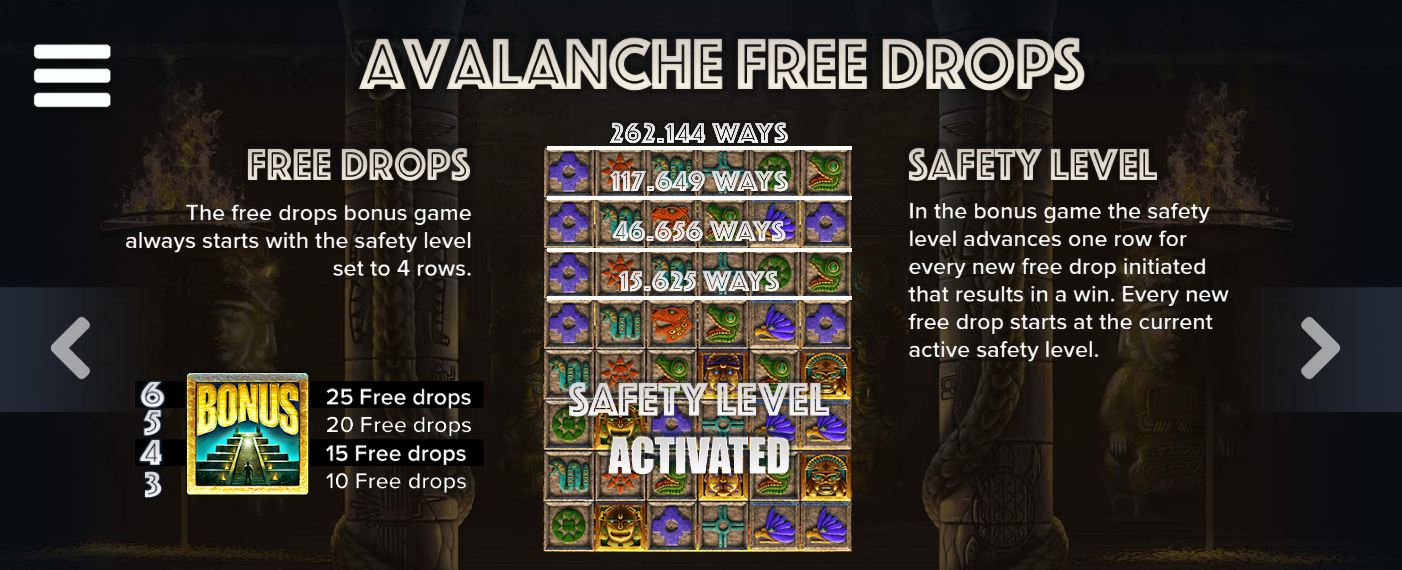 Avalanche Free Drops in Ecuador Gold Online Slot