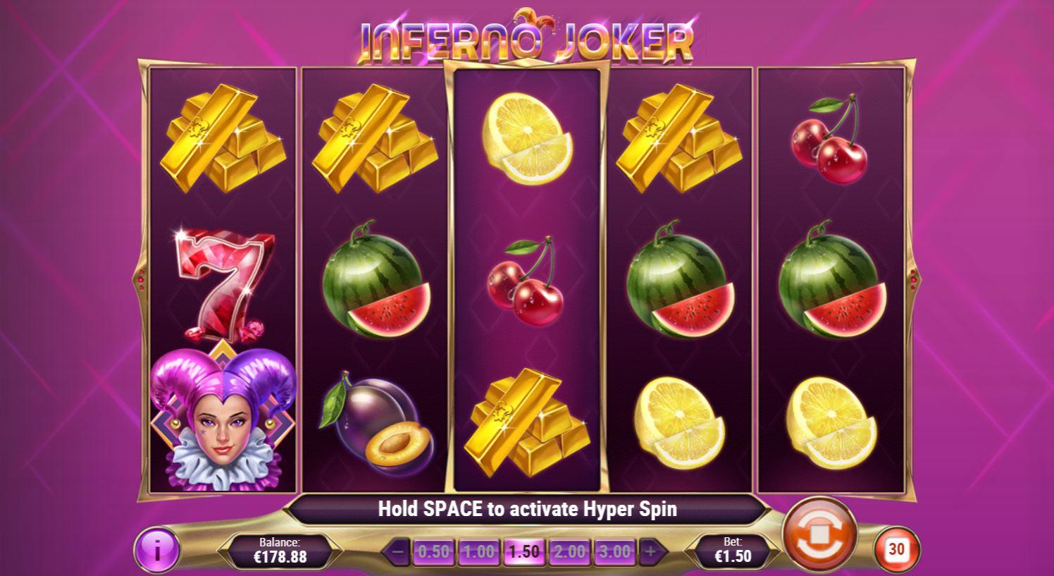Inferno Joker Slots Reels