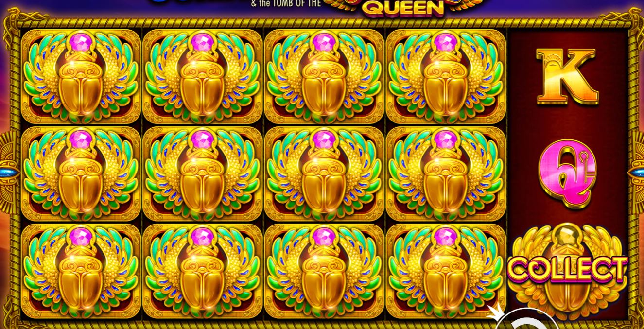 john hunter and the tomb of the scarab queen free spins win