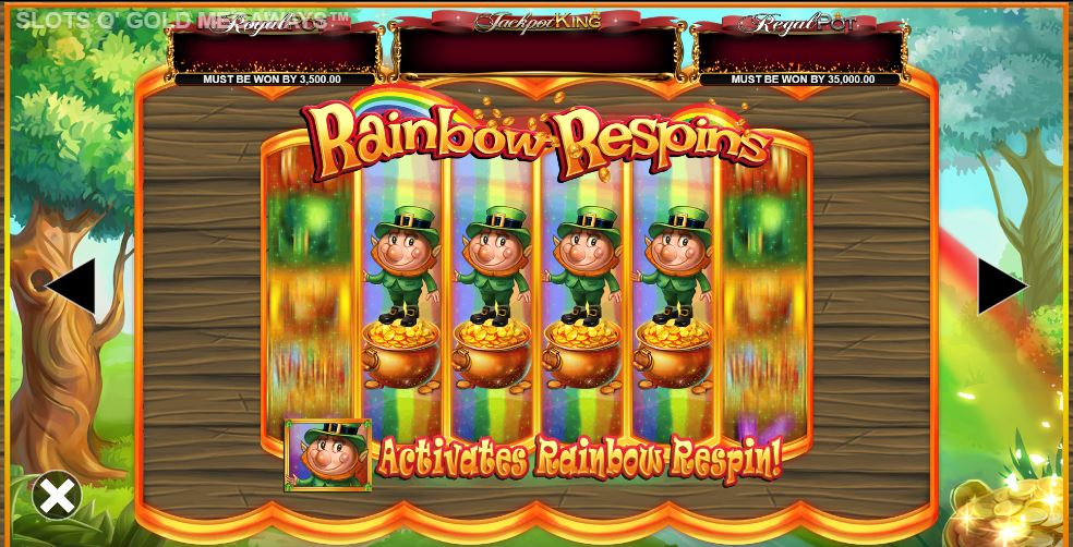 Rainbow Respins in Slots o Gold MegaWays