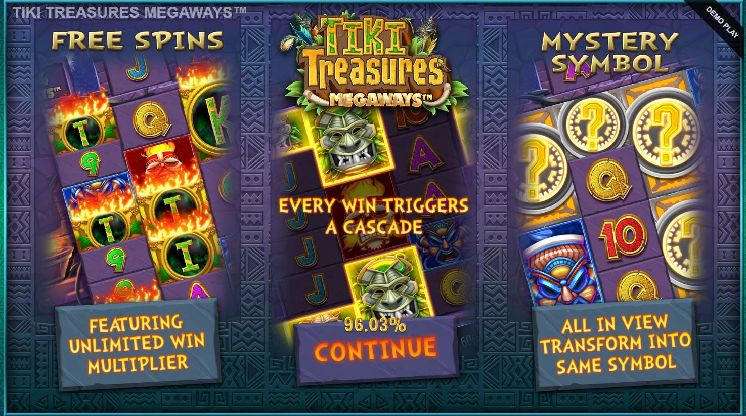 Features in Tiki Treasures Megaways