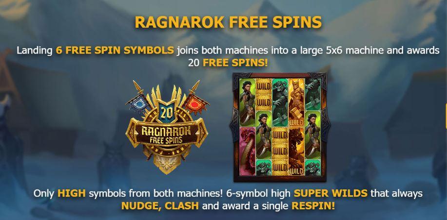 Age of Asgard Yggdrasil free spins Ragnarok