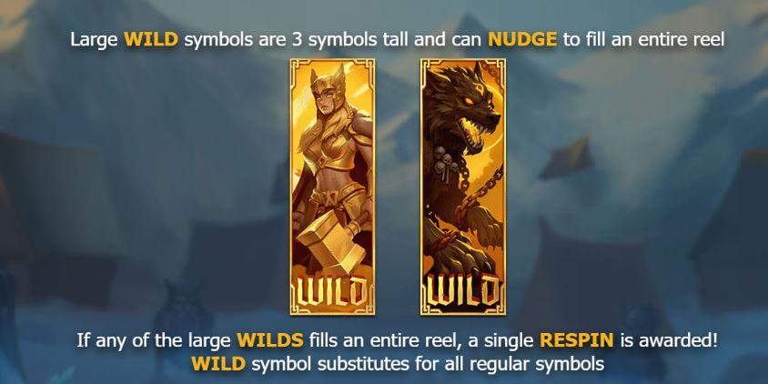 Age of Asgard Yggdrasil wild symbols