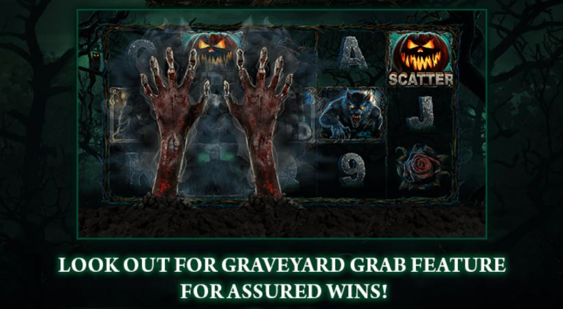 Helloween fever slot graveyard grab feature