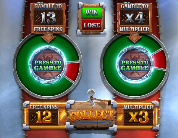 Vikings Unleashed Gamble wheel