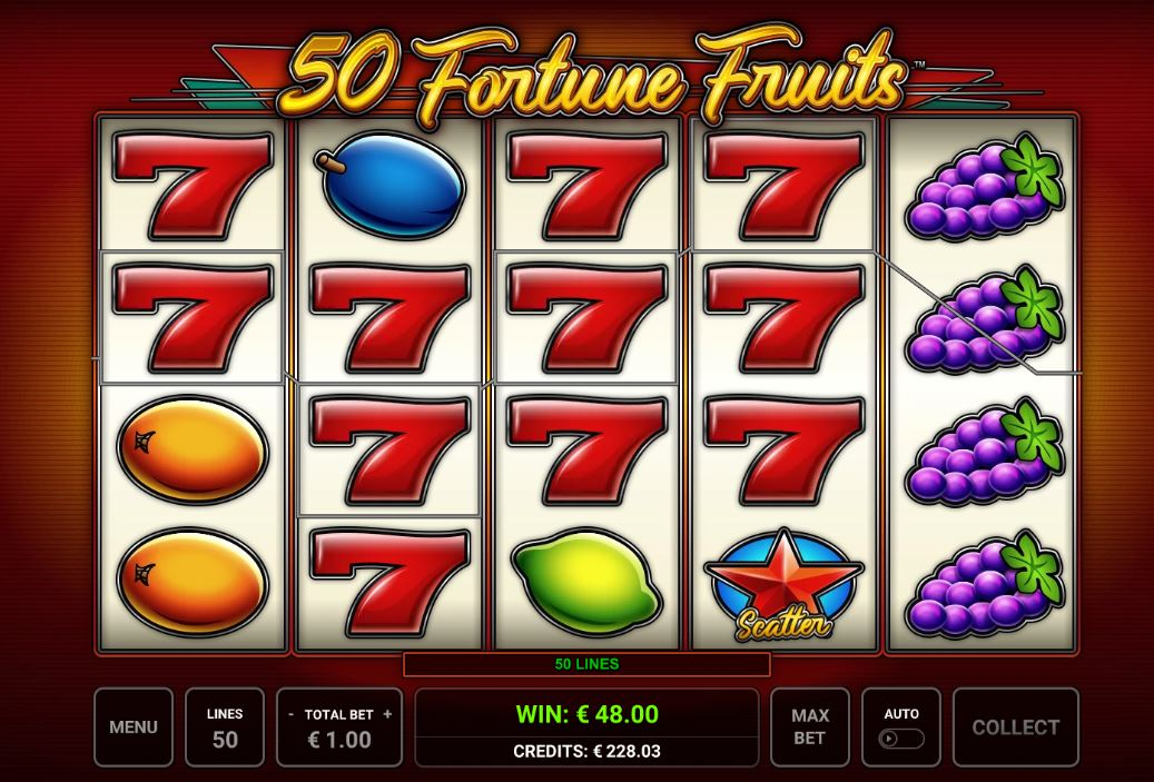 50 fortune fruits sevens