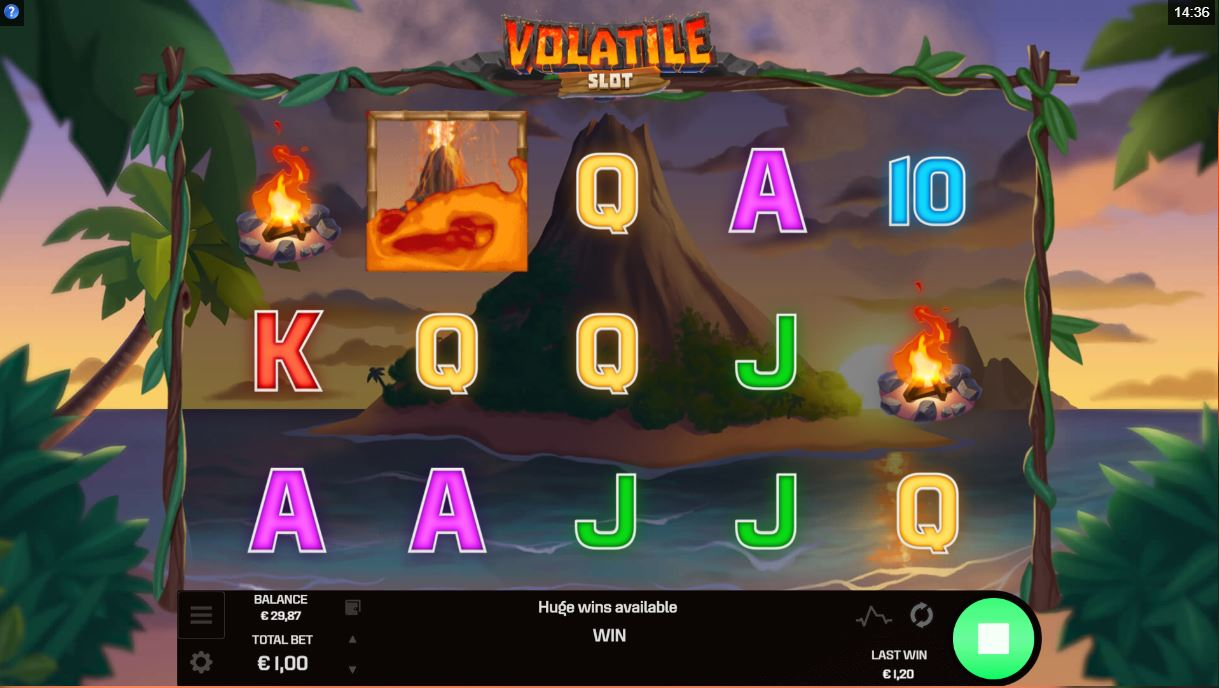 volatile slot base game